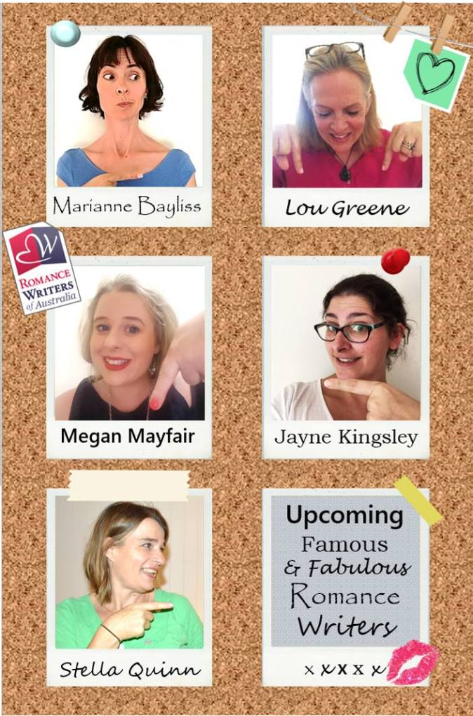 Upcoming authors pinboard